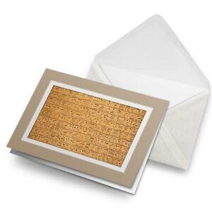 Greetings-Card-Biege-Egyptian-Hieroglyphics-Stone-Wall-16104