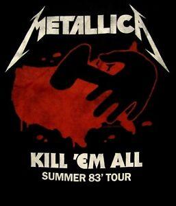 METALLICA-cd-lgo-KILL-EM-ALL-SUMMER-TOUR-1983-Official-SHIRT-LRG-new