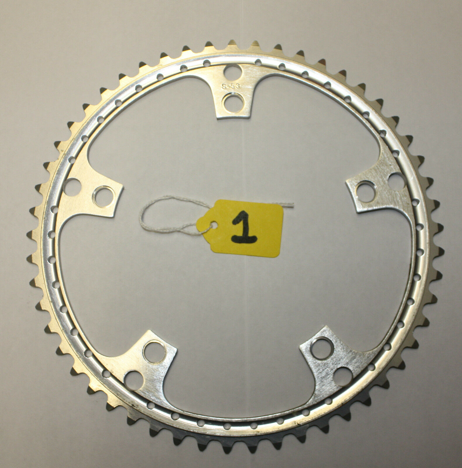 NOS 53T 144 BCD  DRILLED CHAINRING FIT CAMPAGNOLO FOR ROAD RACING BIKE NO.1  fast shipping to you