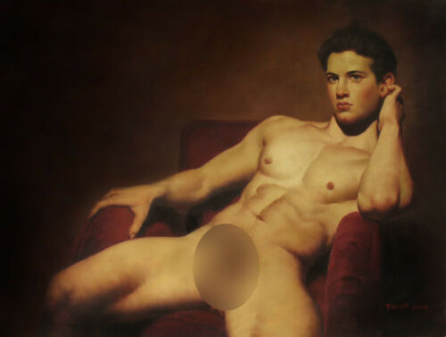 """24/""""x32/"""" Art prints from oil painting male nude portrait men 200 photo listed"""