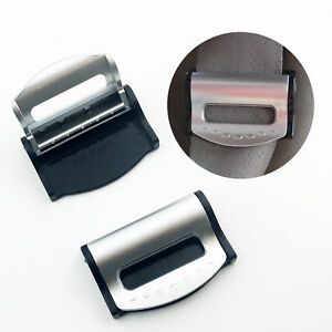 2PCS Auto Accessories Car Seat Belt Safety Adjuster Clips Stopper Buckle Comfort