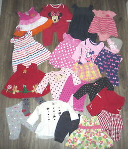 Big-Lot-of-Baby-Girls-Clothing-Sz-3-6-9-month-Popular-Brand-Names
