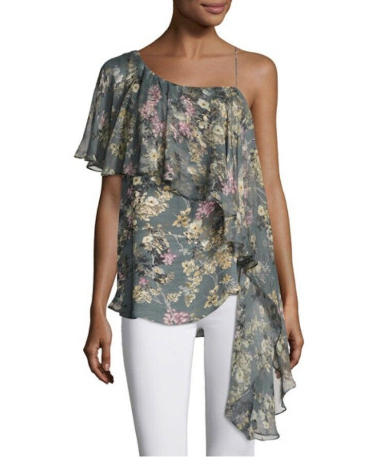 NWT Haute Hippie The Libson Sisters Asymmetrical Top Large Retail
