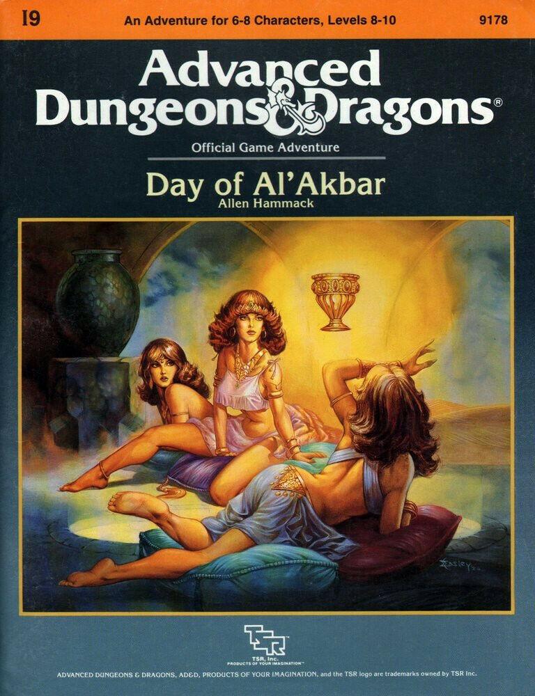 Día de alakbar I9 AD&D Fantasía módulo 1986 Calabozos y Dragones