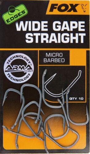 10 Karpfenhaken Fox Edges Armapoint Wide Gape Straight Hooks 10 Angelhaken