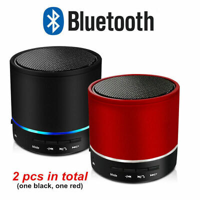 Red Bluetooth Wireless Mini Portable Stereo Bass Speaker For iPhone MP3 Tablet