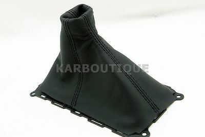 Made for 10-14 Ford Mustang GT Black Real Leather Manual Shift Boot SKIN