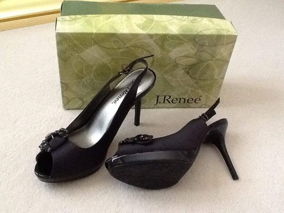 Women's shoes - J. Renee Shantung & Patent Platform Platform Platform 4  Slingback US 9.5M  55 b08f62