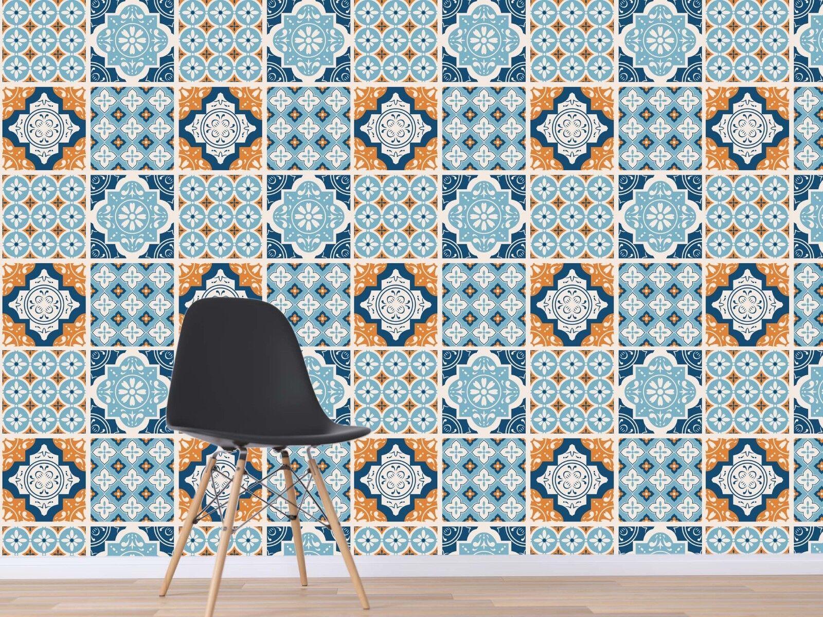 3D Provence Floral Tile 4 Wallpaper Murals Wall Print Wallpaper Mural AJ WALL UK
