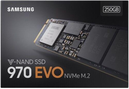 250GB Samsung SSD 970 EVO M.2 3D V-NAND Internal MZ-V7E250BW Solid Hard Drive