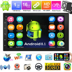 2Din-7in-Android-8-1-Quad-Core-GPS-Navi-WiFi-Car-Stereo-MP5-Plaver-FM-Radio-Cam