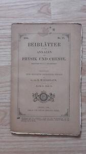E. Wiedemann - Beiblatter Zu Den Annalen Der Physik Und Chemie - 1886 - Nº11