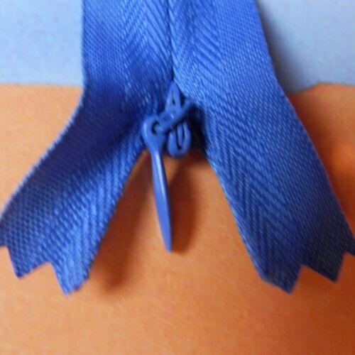 1 Reißverschluss 17-60 cm verdeckt unsichtbar Kunststoff invisible Zipper