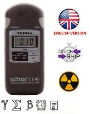 Radiation Dosimeter Detector Terra MKS-05 Geiger Counter Radiometr English