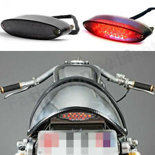 Red Lens 12V Motorcycle Rear LED Brake Tail Light For Scooter Cafe Racer Bobber