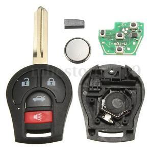 4-Buttons-Keyless-Uncut-Remote-Key-Fob-315Hz-Transponder-Chip-46-For-Nissan