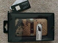 NEW iPHONE 3GS / 3G MOBILE PHONE CASE WITH STAND UNIQUE SAFARI BEIGE SNAKESKIN