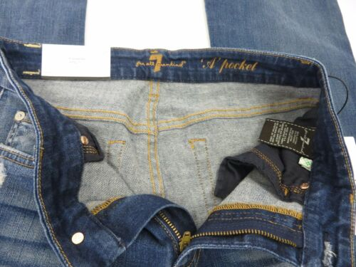 """Size 29 NWT 7 FOR ALL MANKIND JEANS /""""A/"""" Pocket $215.00 Rinsed Indigo"""