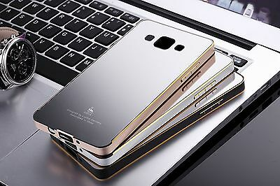Luxury Aluminum Metal Frame +Mirror Back Case Cover For Samsung Galaxy Phone Hot