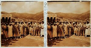 Monaco Stereo Amateur Targa Di Vetro Pos. 1934 Vintage 7x13cm