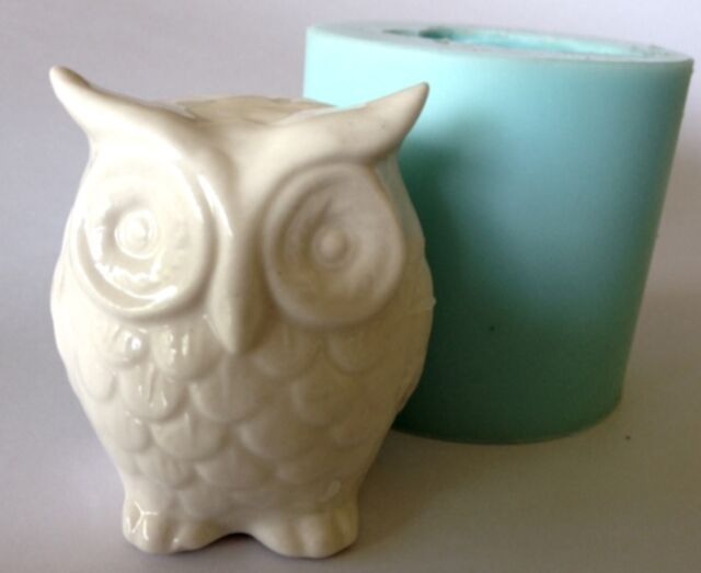 OWL 3D SOAP MOULD Candles/Melts,crafts, Silicone New Hand Crafted Mold