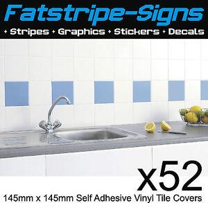 Kitchen Bathroom Ceramic Wall Tile Self Adhesive 145mm Cut