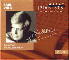 Earl WILD GREAT PIANISTS OF THE 20TH CENTURY 2CD Gershwin Glinka Wagner Kreisler