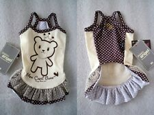 "ABITO ABBIGLIAMENTO CANE VESTITINO BEAR DOLLY DRESS ""PUPPY ANGEL"" TG. XS"
