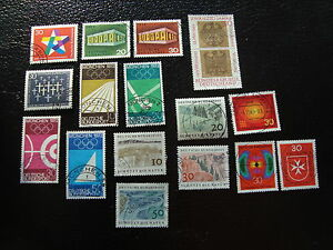 Germany-Rfa-Stamp-yt-N-445-A-460-Obl-Stamp-Germany