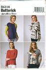 BUTTERICK SEWING PATTERN 6218 MISSES SZ 8-16 KATHERINE TILTON LOOSE-FITTING TOP