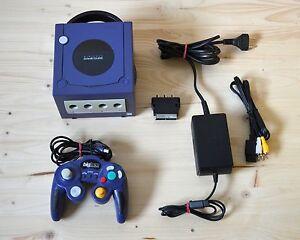 NGC-Nintendo-GameCube-Konsole-Purple-mit-Controller