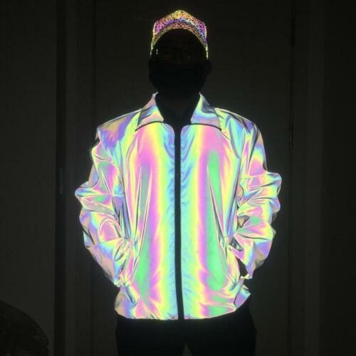 Mountain wear Fluorescent Spiro Reflective Breathable Luminous Mens Jacket