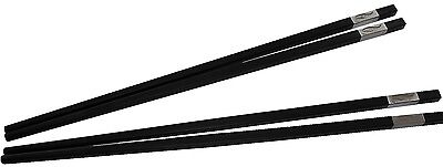 2 Paar Schwarze Essstäbchen Silberverzierung chopsticks Esstäbchen 4Stück