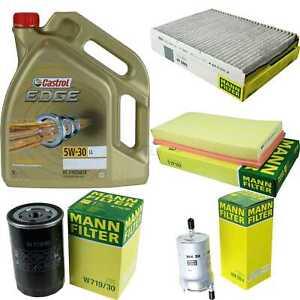 Inspection-Kit-Filter-Castrol-5L-Oil-Oil-5W30-For-VW-New-Beetle-9C1-1C1