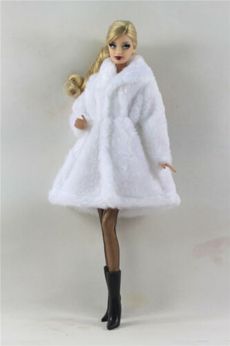 Lovely Fashion Winter fur Coats Clothes//Outfit+boots+socks For 11.5in.Doll C035