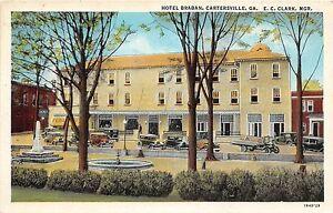 Georgia-Ga-Postcard-Linen-CARTERSVILLE-Hotel-Braban-Clark-Manager