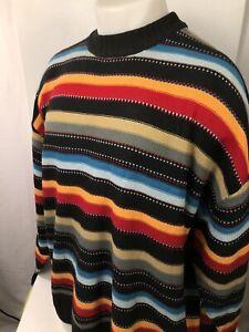 80-90s-Vintage-Koman-Sport-COOGI-Bill-Cosby-Style-Oversized-Heavy-Knit-LG-xl-3xl