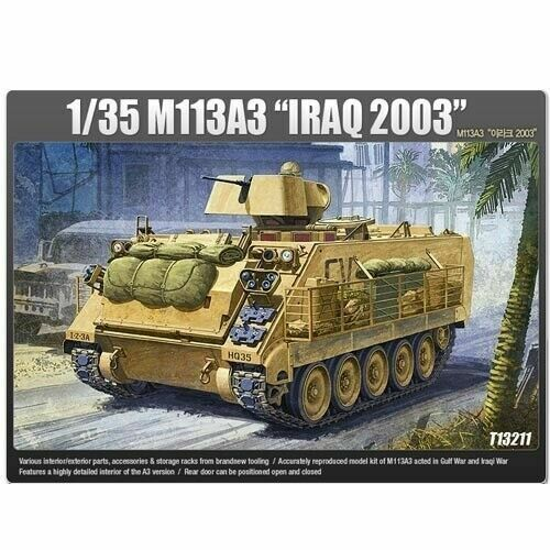 Academy 13211 M113A3 Iraq 2003 Combat Vehicle Car Millitary Assembly Model_IA