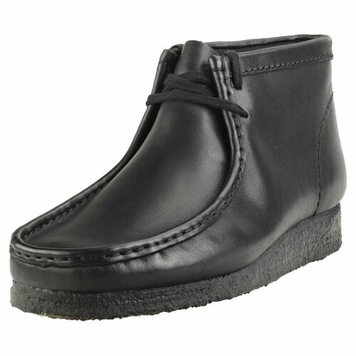 Clarks Originals Wallabee Boot Mens Black Leather Wallabee Boots