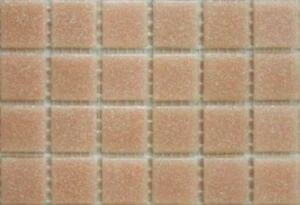 75 Matte Dark Turquoise Vitreous Glass Mosaic 20mm Tiles A15
