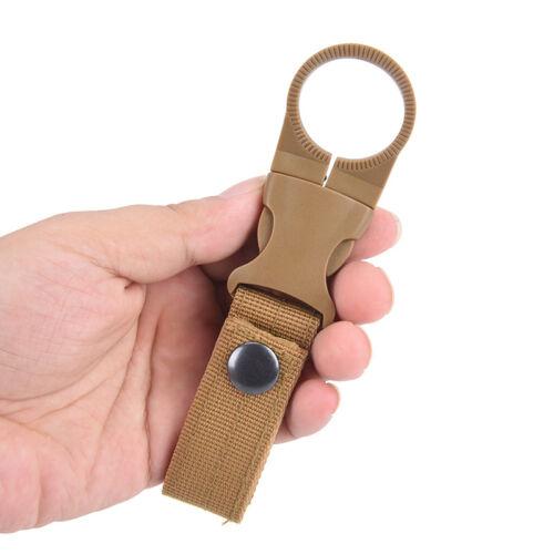 Outdoors Nylons Webbing Buckle Hook Water Bottle Holder Clip Belt Backpack Clamp
