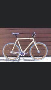 Cintre droit VTT guidon Kalin vélo vintage fixie backsweep 5° noir alu neuf old