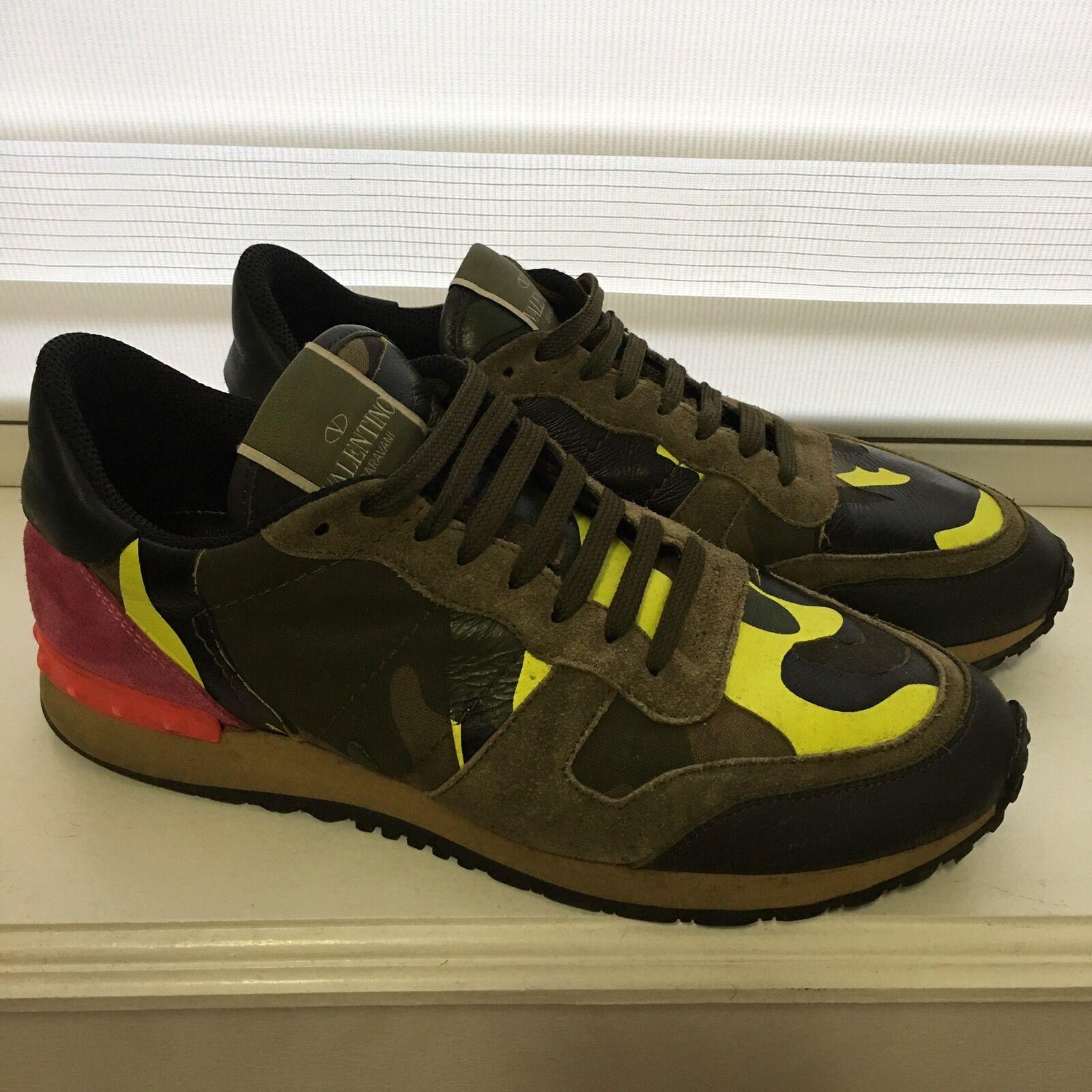 Valentino Garavani Camouflage Rock springaners gul grön skor skor skor skor Italien 40  kom att välja din egen sportstil