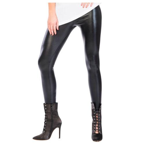 Adult Wet Look Leggings Fancy Dress Halloween Faux Leather Pants Trousers Womens