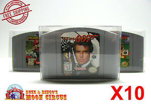 10x-NINTENDO-N64-GAME-CARTRIDGE-CLEAR-PLASTIC-PROTECTIVE-BOX-PROTECTOR-SLEEVE