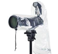 Jjc Ri-6 2pcs 18x7 Waterproof Rain Cover Protector Camera With Lens & Flash