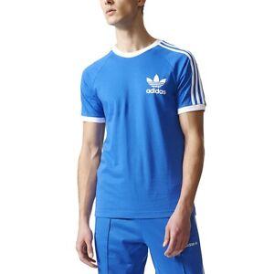 Adidas Originals Trefoil California Men's Athletic T-Shirt Blue/White bq7552