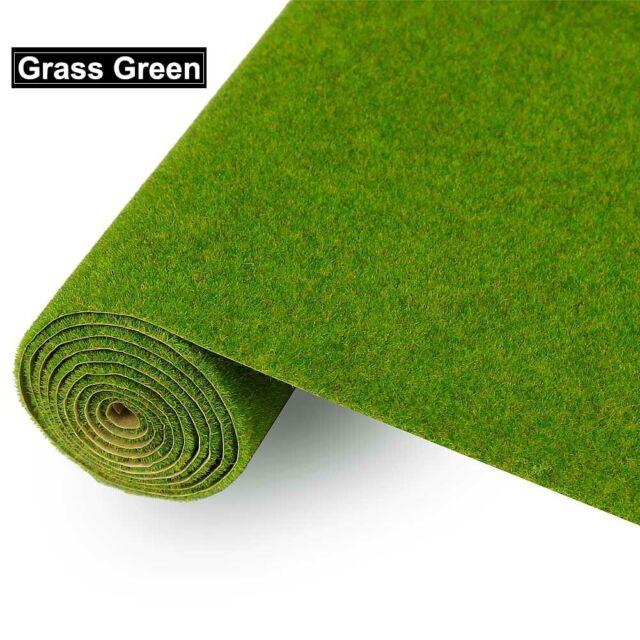 Grass Mat Paper Scenery Turf 4pcs//set Model Train Layout Green HO Scale T R E