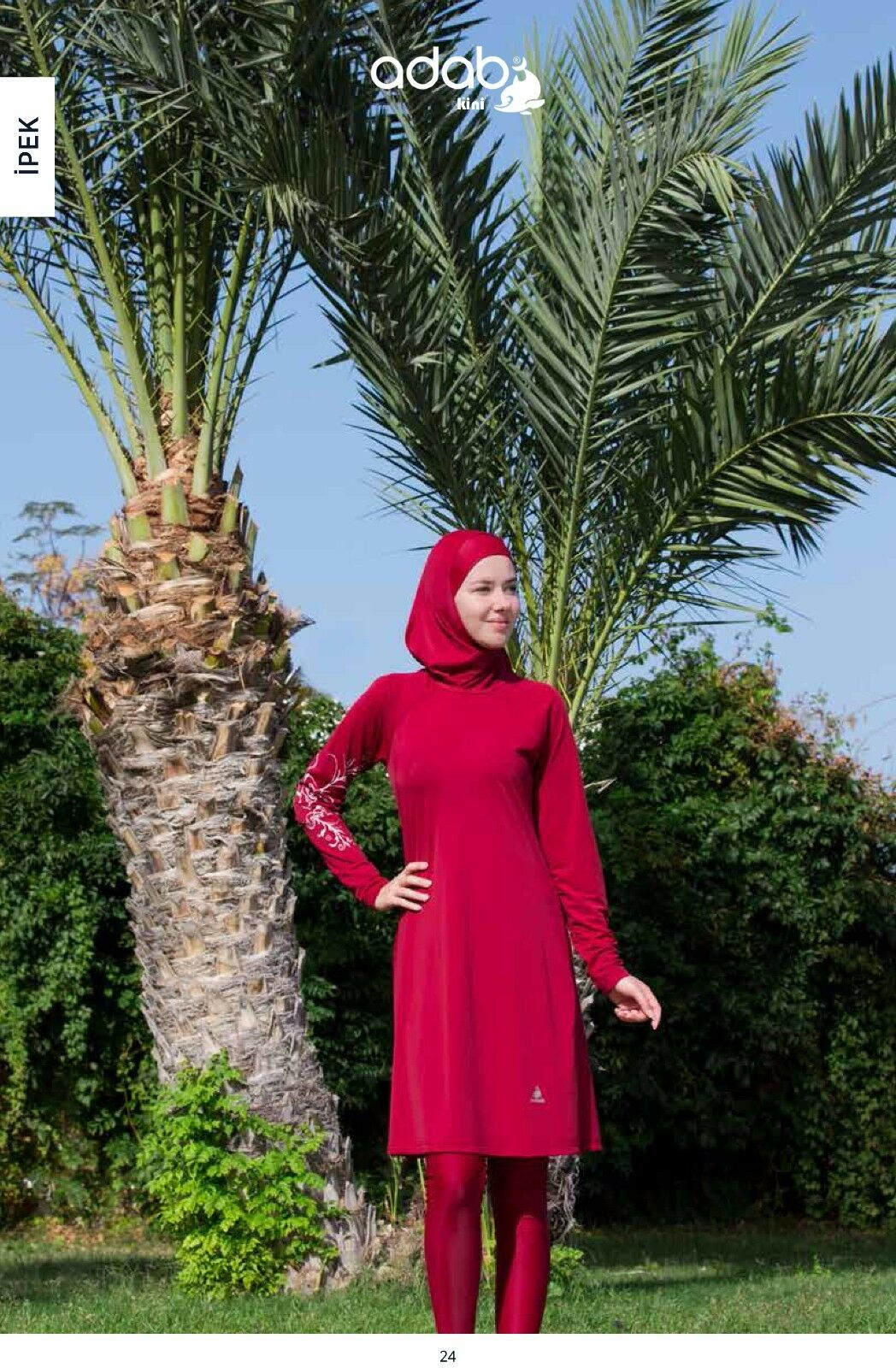Adabkini IPEK burkini, Islamic swimsuit, bathing suit, Stretchy material, w Cap