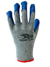 Wholesale Blue Latex Rubber Palm Coated Work Safety Gloves 240 Pairs With Logo